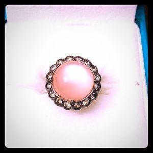 Vintage Uncas Pink Moonstone Ring